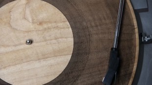 Laser-Cut Wooden Record